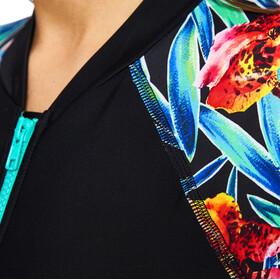 Zoggs Hybrid Tropics Kneesuit Damer, black/multi